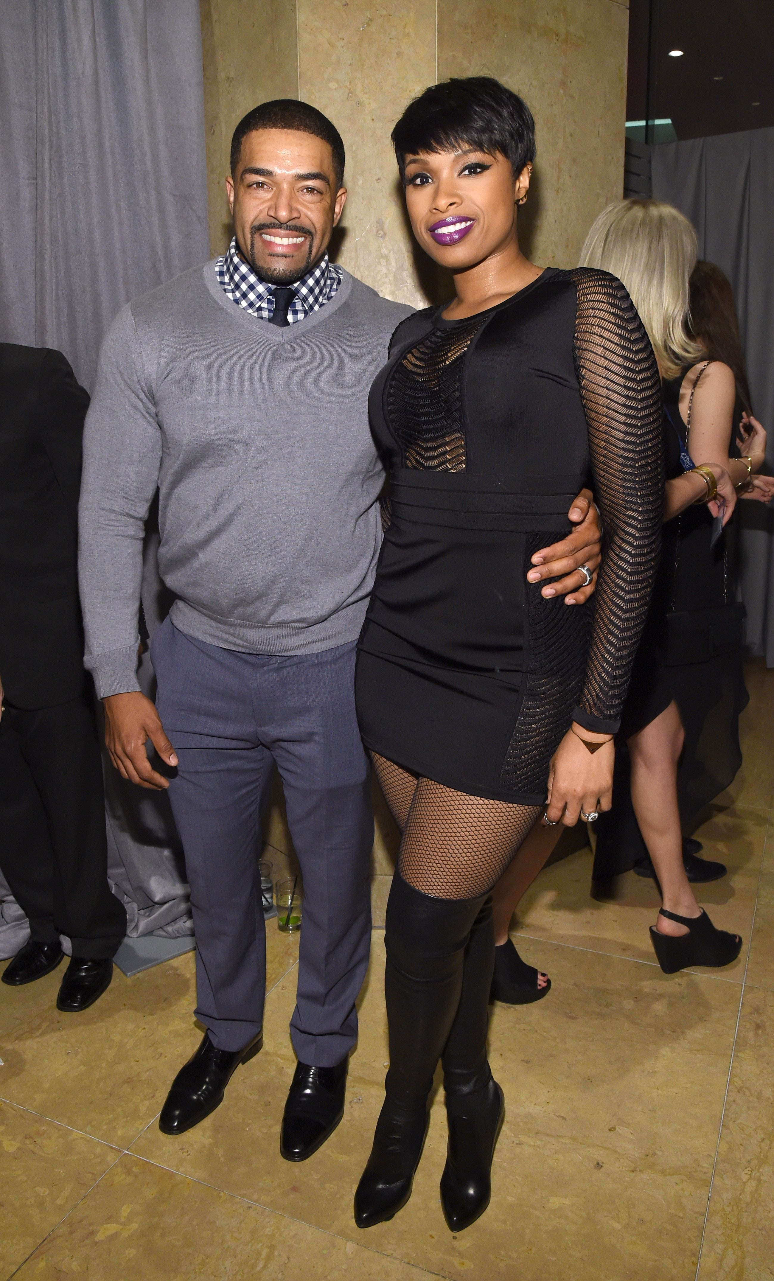 Jennifer Hudson with her ex-fiance, David Otunga at a Pre-Grammy Gala event in February 2015. | Photo: Getty Images