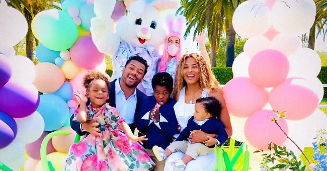 Ciara's 2 Sons & Husband Russell Wilson Pose in Matching Suits in Cute Family Photos on Easter