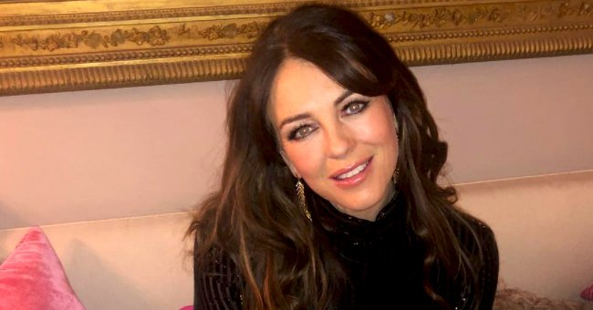 See Elizabeth Hurley's Tiny Fluffy Dress as She Puts on a Glamorous Festive Look