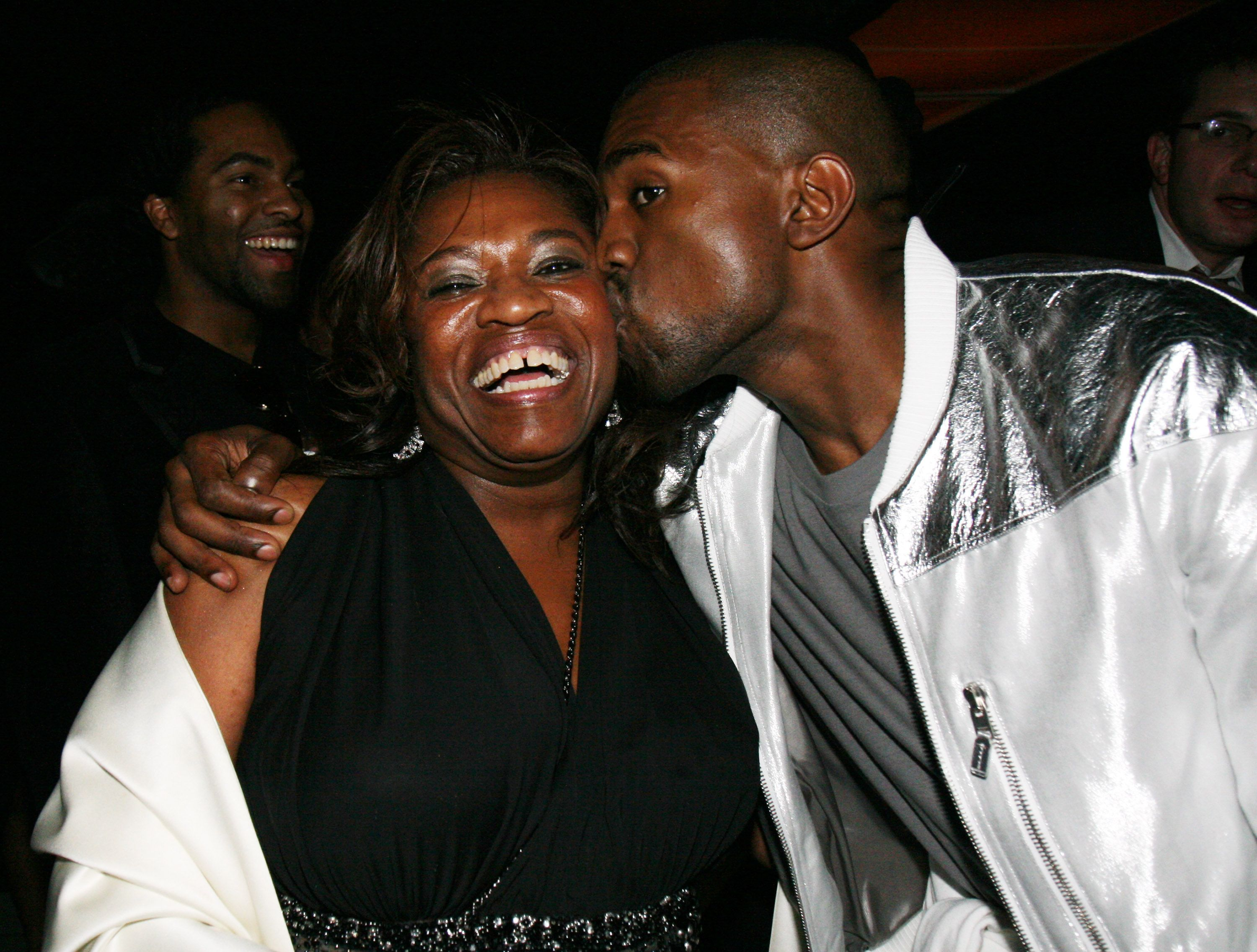 Donda West and Kanye West at Queen Latifah's post GRAMMYs party in February 2007 | Source: Getty Images