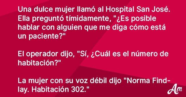 Anciana inteligente llama a un hospital para controlar a un paciente