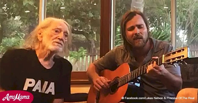 Video of Willie Nelson singing his Christmas classic with son instantly puts you in festive mood