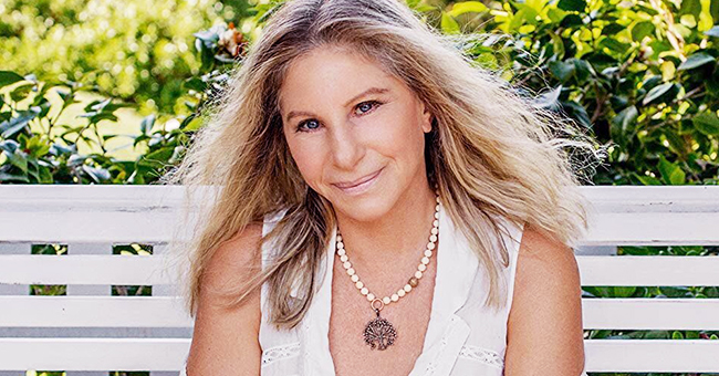 Barbra Streisand Poses in the Company of Her Three Dogs (Photo)