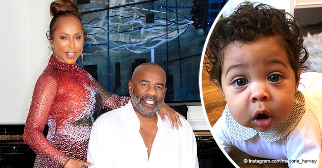 Steve Harvey's wife steals hearts with new photos of their curly-haired grandson in a cute outfit