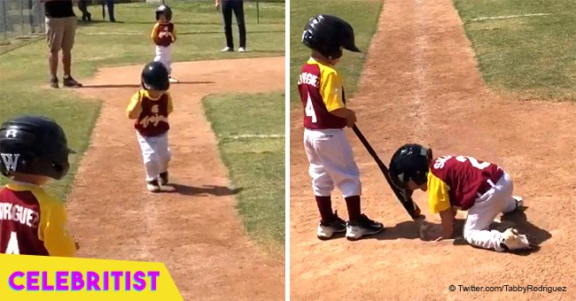 Video of 3-year-old California baseball player running bases in 'slow motion' still melts hearts