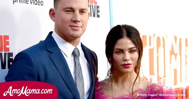 Channing Tatum's wife Jenna, 37, shows off her tiny waist in tiny top