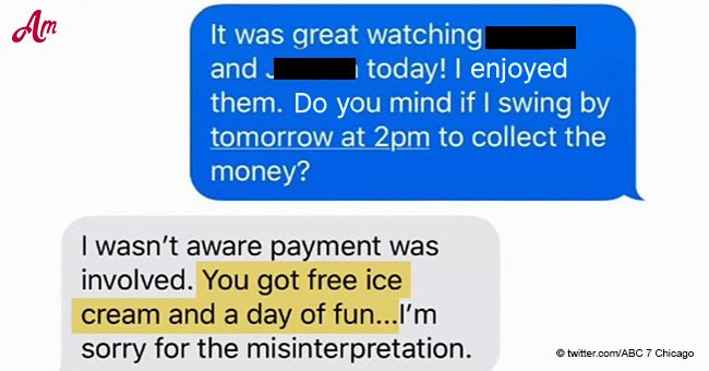 Mom doesn't want to pay money to babysitter and tries to pay with 'free ice cream' instead