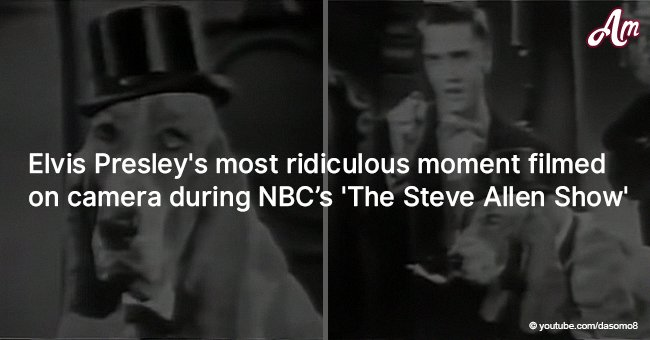 Elvis Presley's Most Ridiculous Moment Filmed on Camera During NBC's 'The Steve Allen Show'