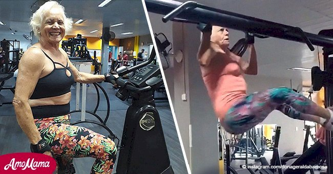 Health issues motivated this granny to transform her body, and her workout skills are envious
