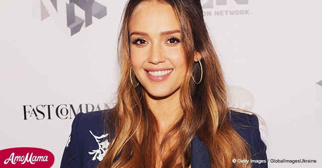 Doting mother Jessica Alba, 36, shares a cute photo of son Hayes for his three-month birthday