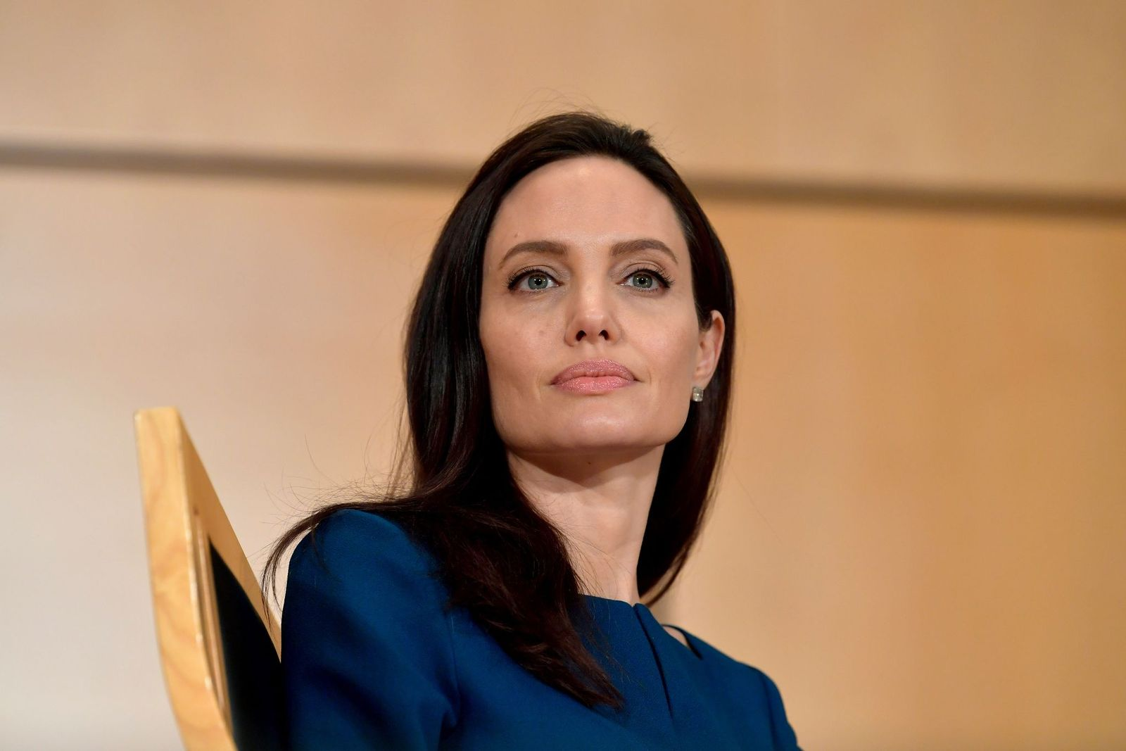Angelina Jolie at the annual lecture of the Sergio Vieira De Mello Foundation on March 15, 2017. | Photo: Getty Images