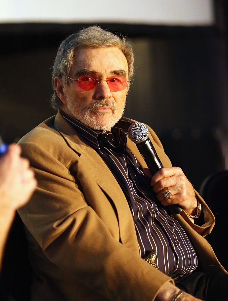 "Burt Reynolds speaks at the screening of ""Smokey and the Bandit"" during the 2016 SXSW Music, Film + Interactive Festival. 