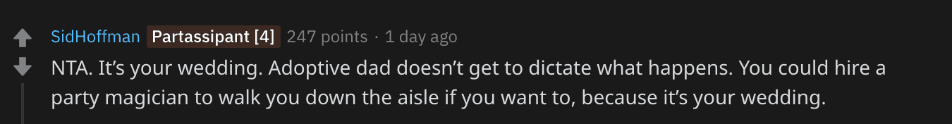 A Redditor's comment on the OP's post. | Source: Reddit