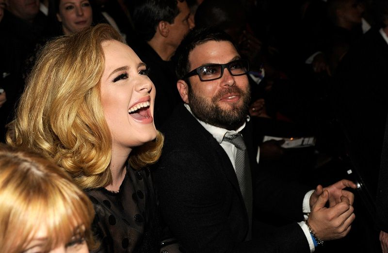 Adele and Simon Konecki attend The 54th Annual GRAMMY Awards at Staples Center on February 12, 2012 in Los Angeles, California. | Photo: Getty Images