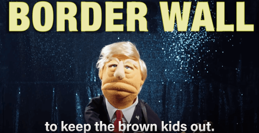 "A puppet-form of Donald Trump sings the parody song ""Trump's ABCs."" 