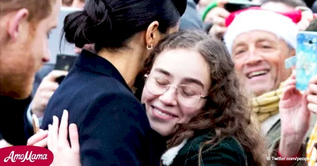 Meghan Markle spots a familiar face in the crowd during Christmas walk and reacts with hugs