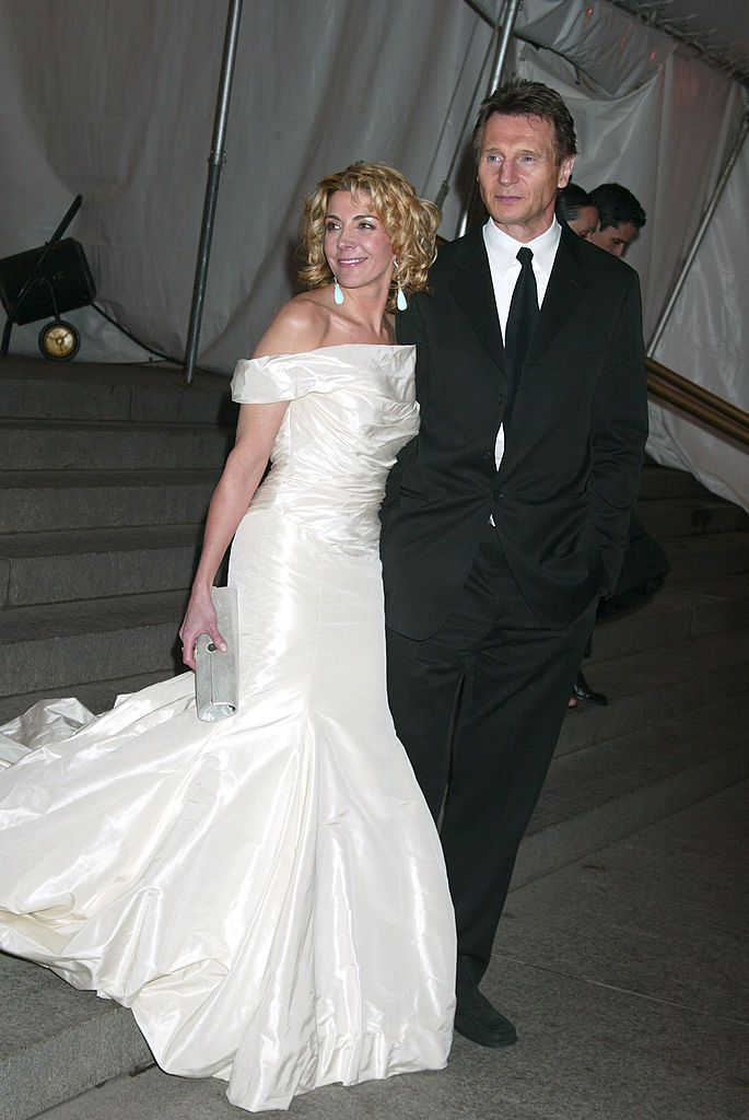 "Natasha Richardson and Liam Neeson at The Costume Institute's Gala Celebrating ""Chanel"" on May 02, 2005 in New York City 