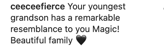 A fan's comment on Magic Johnson's family vacation pictures. | Photo: Instagram/Magicjohnson