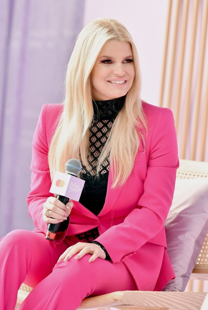 Jessica Simpson in an interview | Source: Getty Images