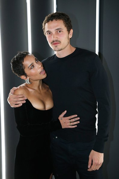 "Zoe Kravitz and her companion actor Karl Glusman at the ""YSL Beauty Hotel"" event during Paris Fashion Week Menswear Fall/Winter 2018-2019 