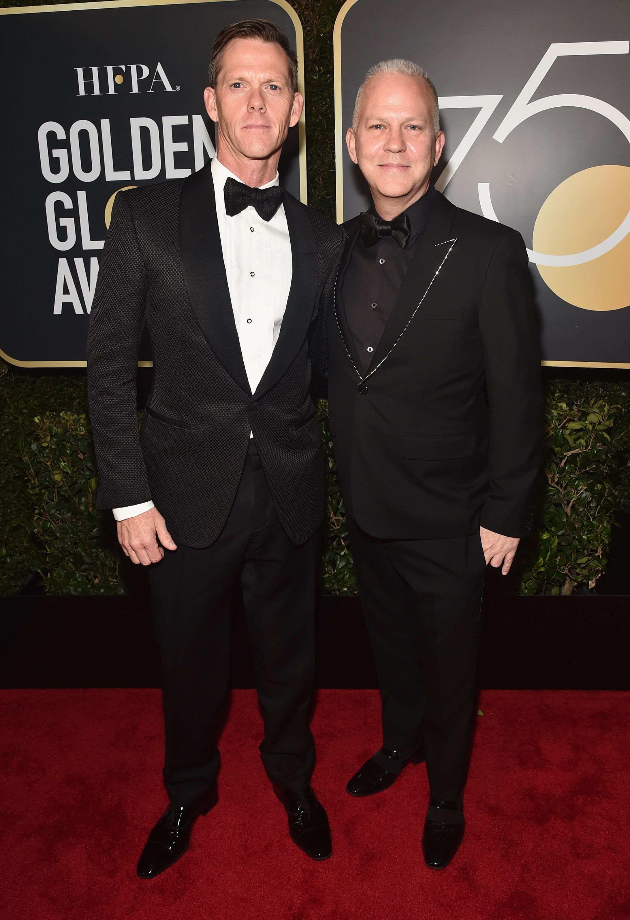 Producer Ryan Murphy and David Miller at the 75th Annual Golden Globe Awards at The Beverly Hilton Hotel on January 7, 2018 | Photo: Getty Images