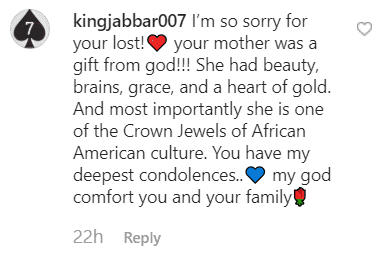 A fans' comment from Suzanne Kay's post   Instagram/suzannekay9