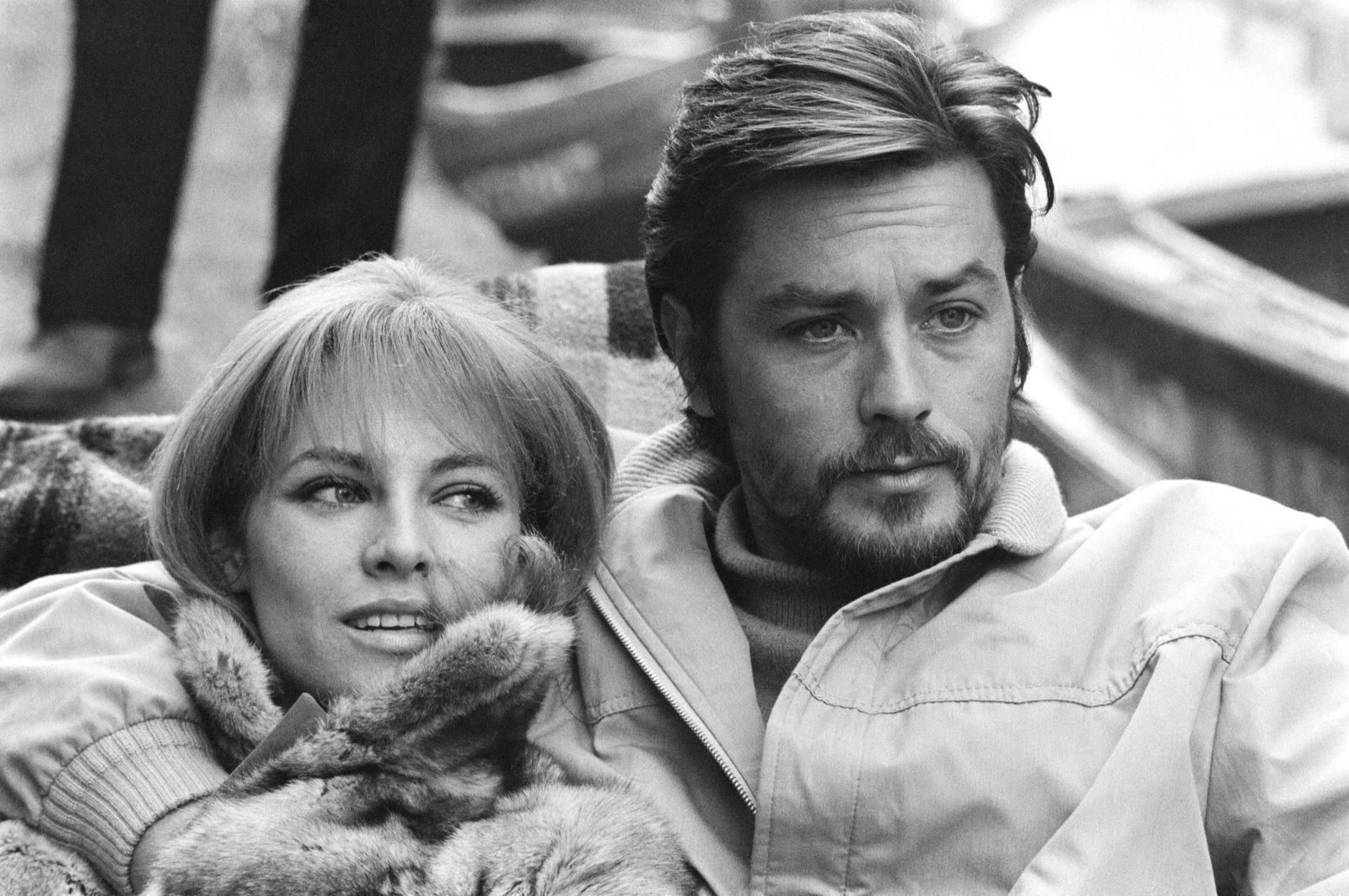 Alain Delon et sa femme Nathalie | Photo : Getty Images