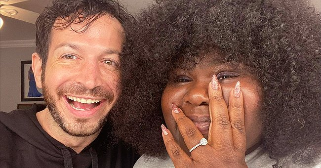 Gabby Sidibe & Her Fiancé Show Complicating Looks as They Enjoy Unboxing Icy Park Drop (Video)