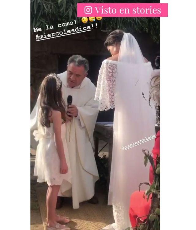 Publicación de Elana Tablada sobre su hija Ella en la boda Naelé Tablada| Foto: Instagram.com/hellentablada