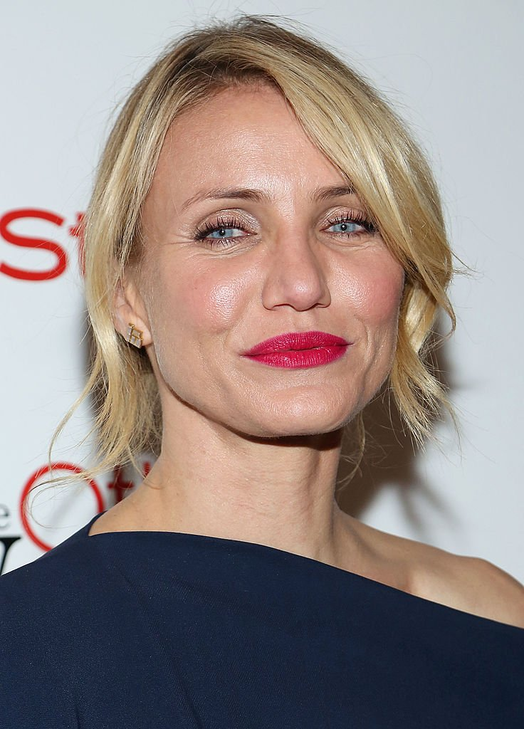 "Cameron Diaz attends The Cinema Society & Bobbi Brown with InStyle screening of ""The Other Woman"" at The Paley Center for Media on April 24, 2014, in New York City. 