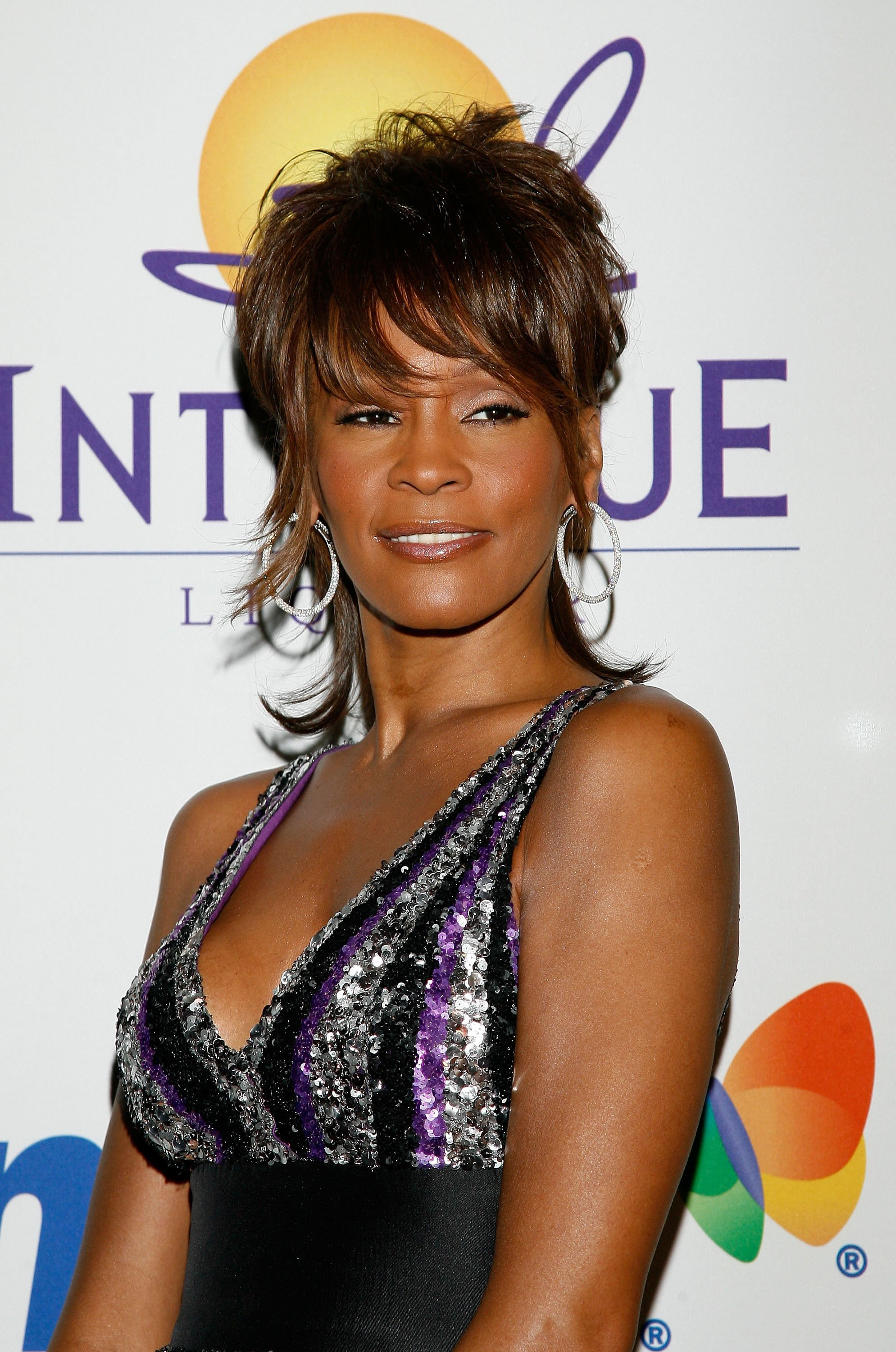 Whitney Houston at the Legendary Clive Davis Pre-Grammy Party on February 9, 2008 in Beverly Hills, California. | Photo: Getty Images