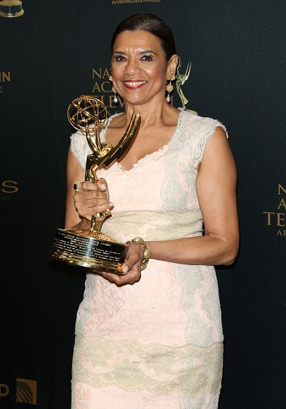 Actress Sonia Manzano attends the press room for the 2016 Daytime Emmy Awards at Westin Bonaventure Hotel on May 1, 2016 in Los Angeles, California | Photo: Getty Images