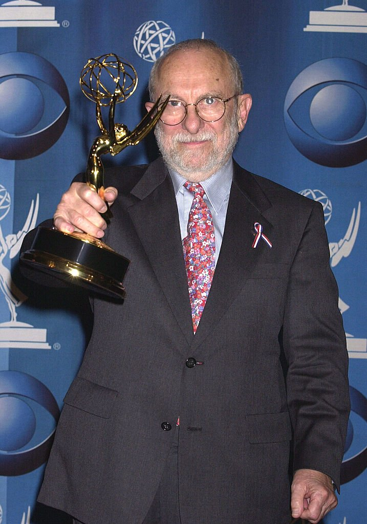 """Loring Mandel poses with his Emmy for Best Writing for a Miniseries or Movie for HBO's """"Conspiracy. 