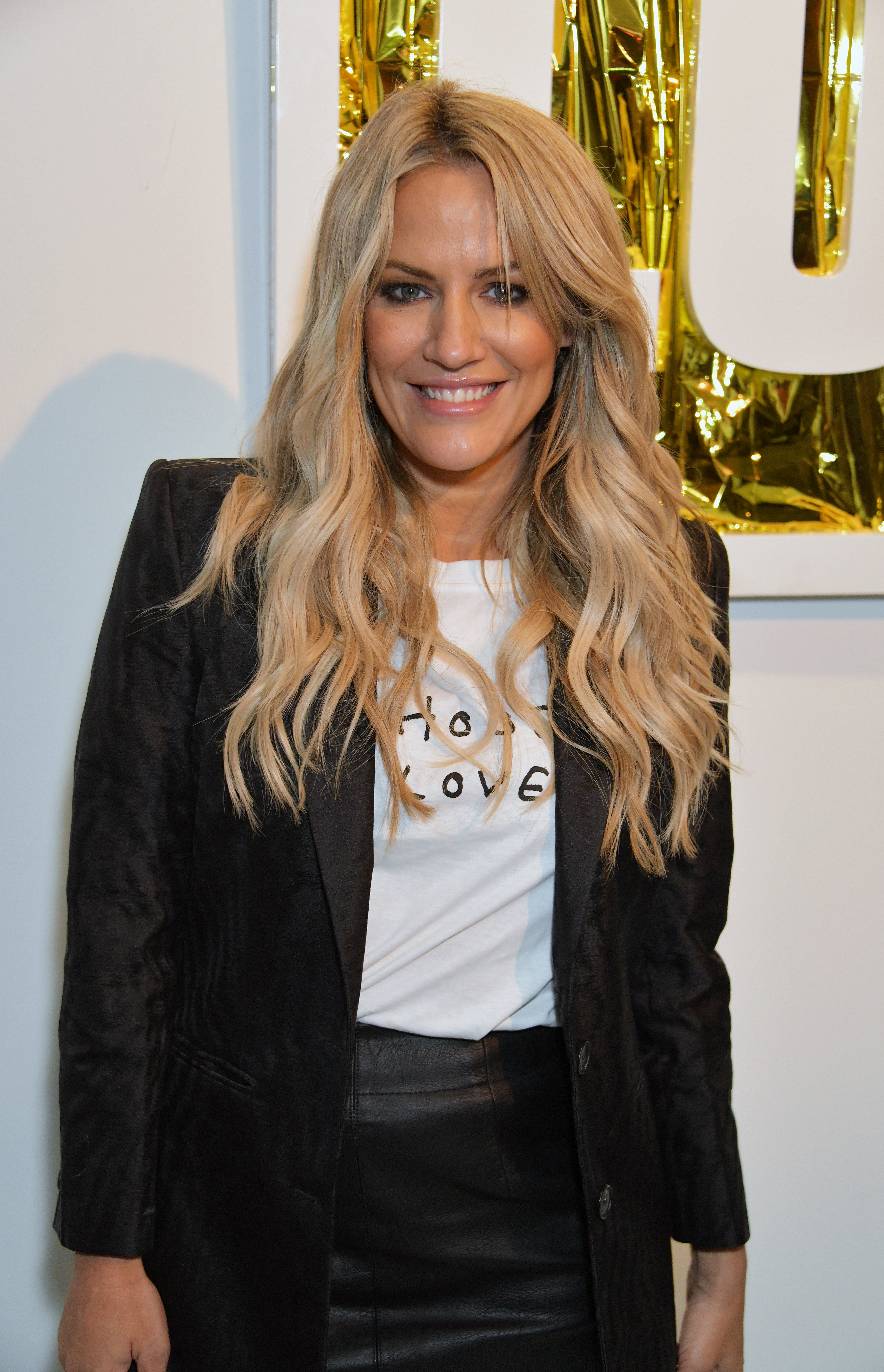 Caroline Flack at the launch of the Choose Love LFW Collection hosted by Help Refugees during London Fashion Week September 2019 in London, England | Photo: Getty Images