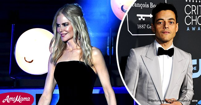 Nicole Kidman hugs 'Bohemian Rhapsody' star in mesmerizing strapless curve-hugging dress