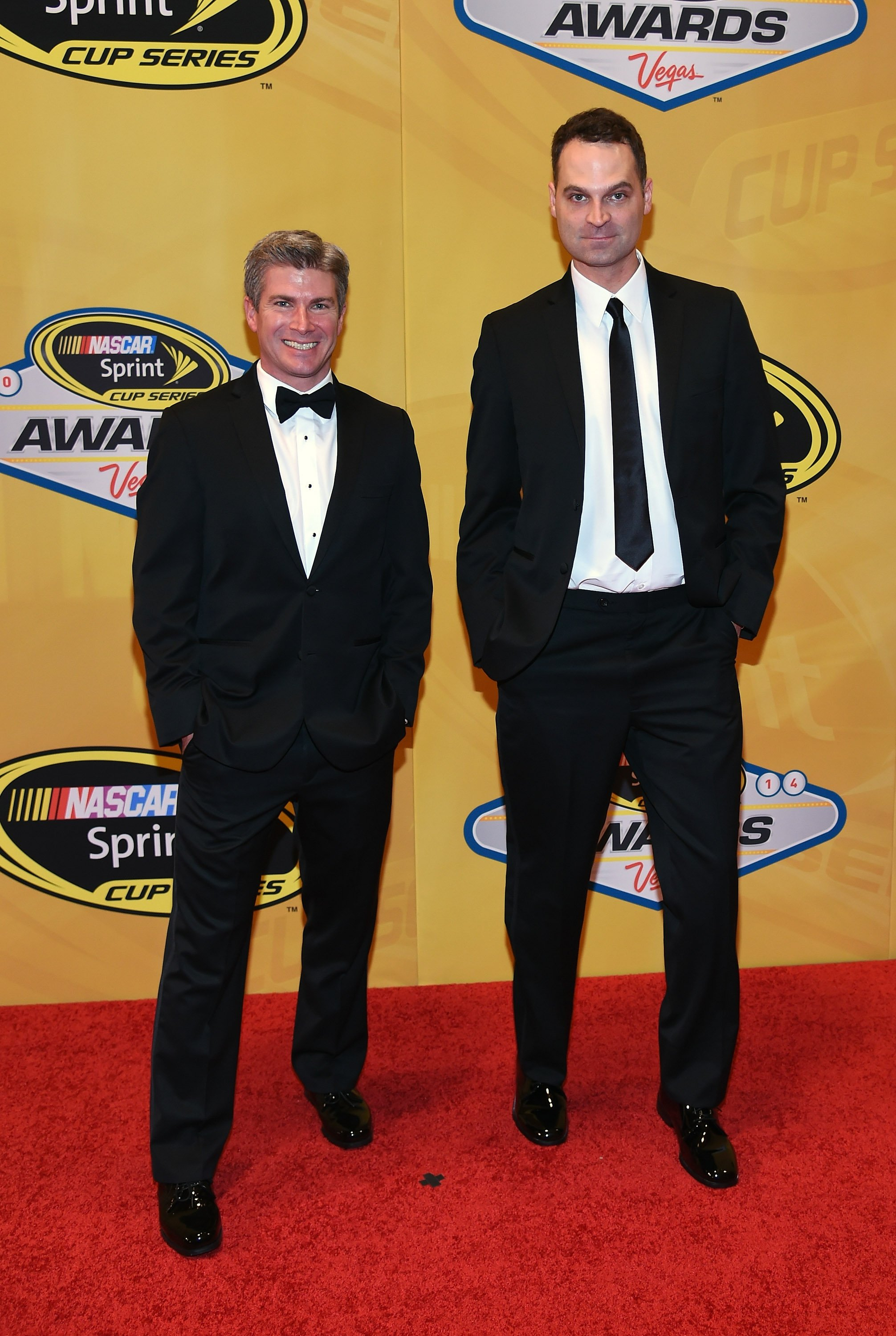 Dan O'Toole and Jay Onrait at the NASCAR Sprint Cup Series Awards on December 5, 2014, in Las Vegas, Nevada | Photo: Ethan Miller/Getty Images