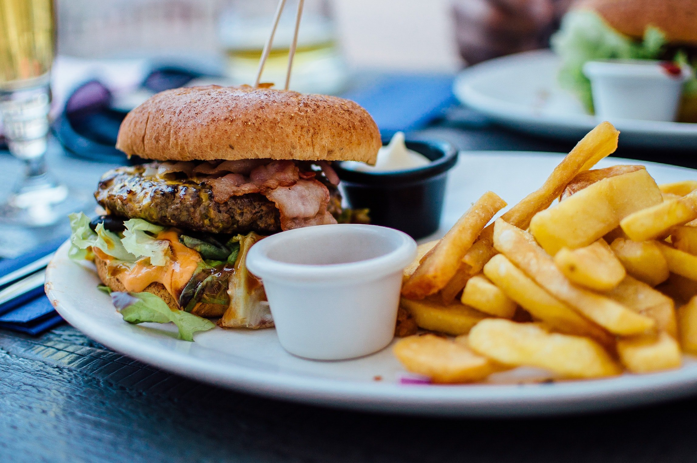 Burger and fries. | Source: Pexels