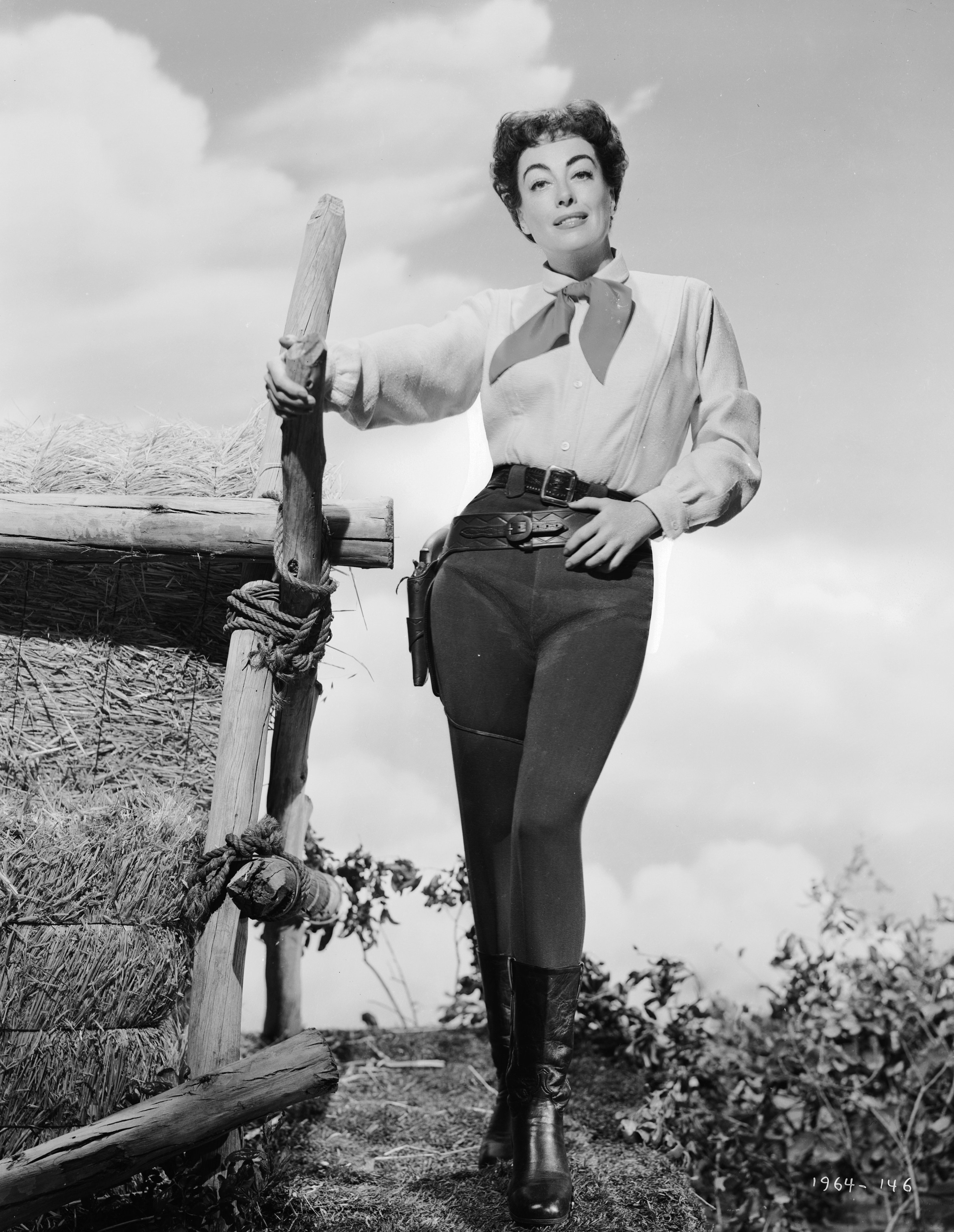 American film actress Joan Crawford (1908 - 1977) in costume for her role in the western 'Johnny Guitar',1954   Source:Getty Images