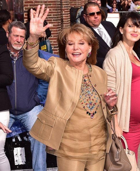 Barbara Walters leaves the 'Late Show With David Letterman' at Ed Sullivan Theater | Photo: Getty Images