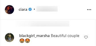 A fan's comment on Ciara and Russell's photoshoot. | Photo: Instagram/Ciara