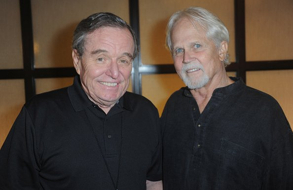 Jerry Mathers and Tony Dow signs autographs at The Hollywood Show held at Westin LAX Hotel on July 8, 2017, in Los Angeles, California. | Source: Getty Images.
