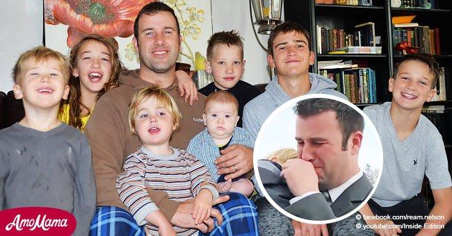 Un veuf avec 7 enfants éclate en sanglots lorsqu'un étranger leur donne un cadeau de Noël anticipé