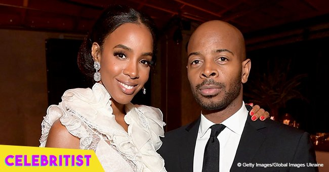 Kelly Rowland's husband shares edgy photo of her in black & white suit for Vogue Australia