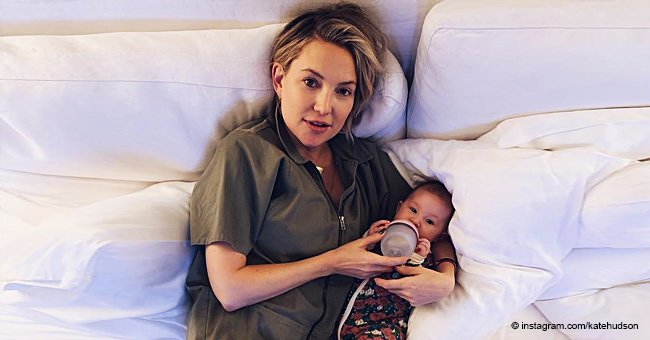 Kate Hudson Shares a Pic of Her Smiling Daughter in a Flowery Onesie Reaching a New Milestone