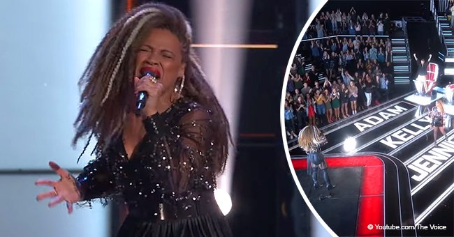 SandyRedd, who scored 4-chair turn, still captures hearts with her stunning audition on 'The Voice'