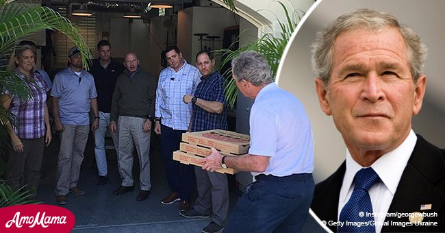Former President George W. Bush supports federal workers with free pizza amid shutdown
