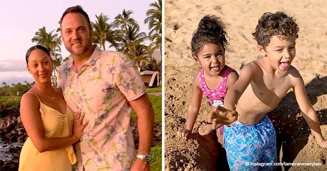 Tamera Mowry shares photo of her 'beach babies' playing in the sand during family trip in Hawaii