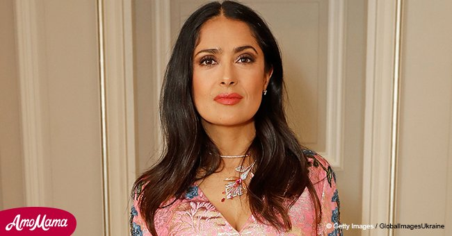 Salma Hayek proves she's an ageless beauty as she flashes her beautiful features in recent photo