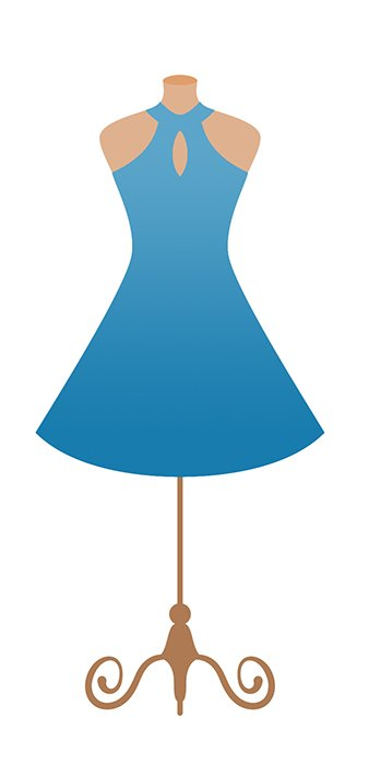 Blaues Kleid - Quelle: Shutterstock
