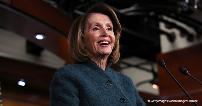 Nancy Pelosi receives a standing ovation from audience at Clive Davis' party